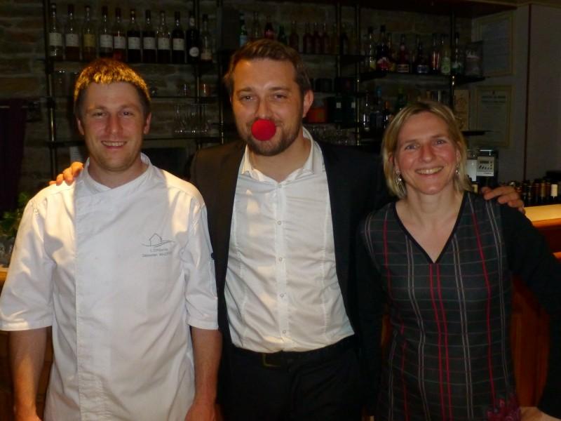Magicien à Cluny en Saône-et-Loire 71, près de Mâcon en Bourgogne, pour un départ à la retraite au restaurant l'Embellie à Sainte-Cécile