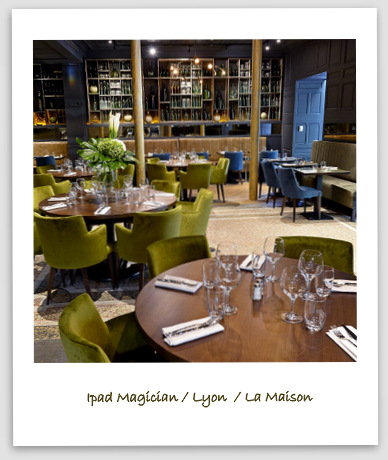 illusionniste ipad lyon au restaurant la maison. Black Bedroom Furniture Sets. Home Design Ideas