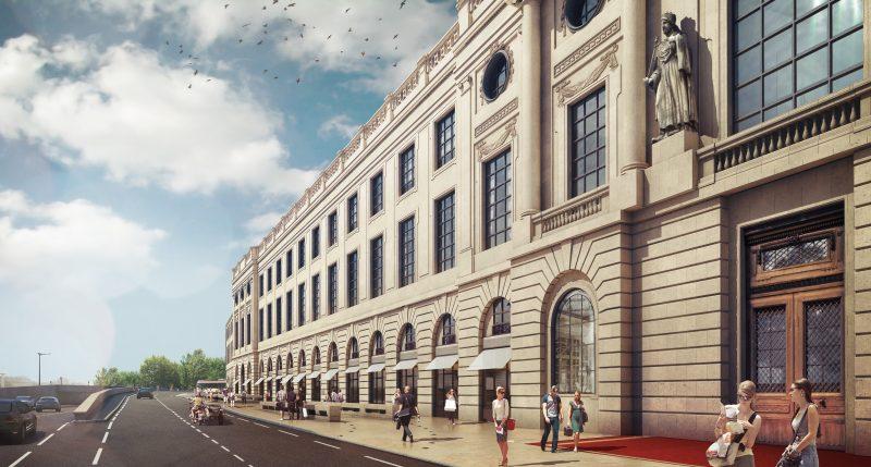 Grand Hôtel Dieu Lyon, façade Soufflot