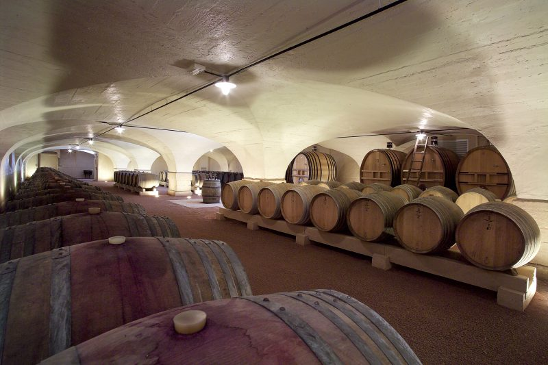 Château de Pizay, la cave de dégustation
