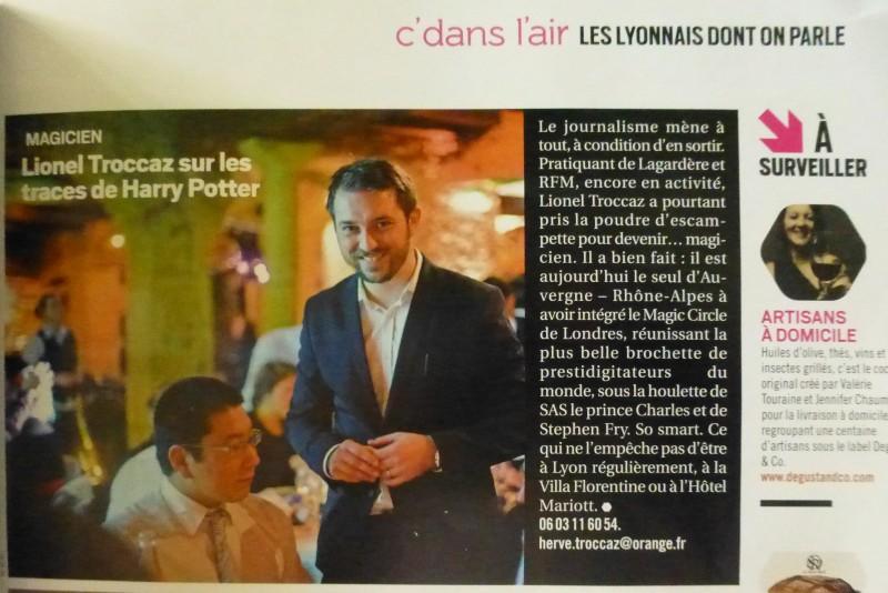 Magicien mentaliste à Lyon, membre du Magic Circle, Hervé Troccaz