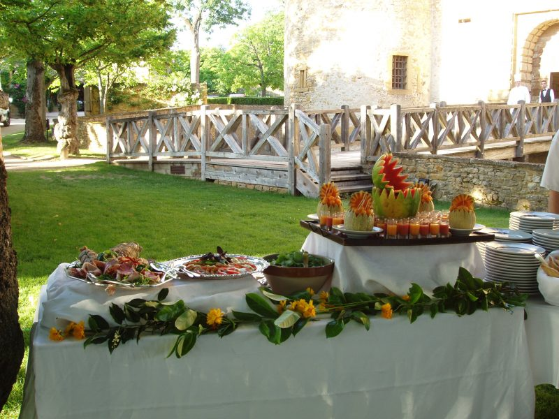 Château de Bagnols : banquet
