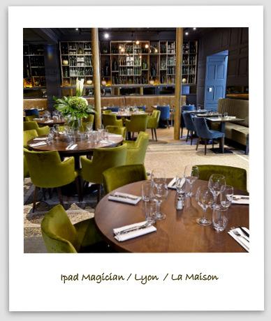 Magicien à Lyon au restaurant La Maison