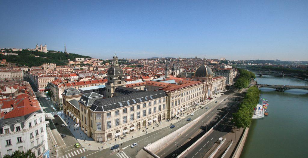 Grand Hôtel Dieu Lyon, vue aérienne