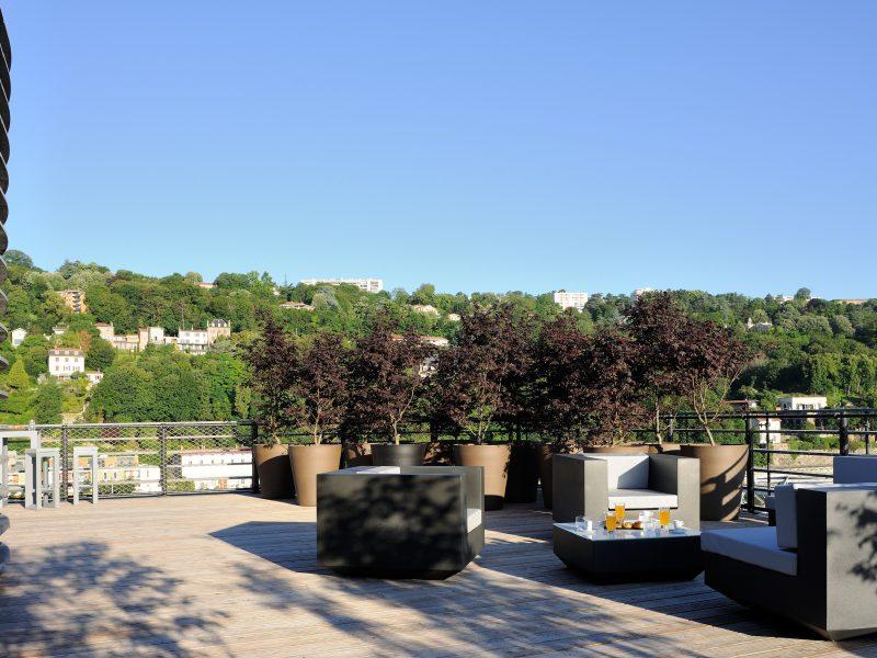 Rooftop 52 à Lyon, les terrasses