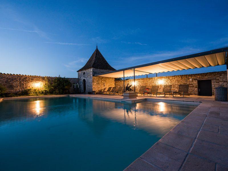 Château de Besseuil : la piscine