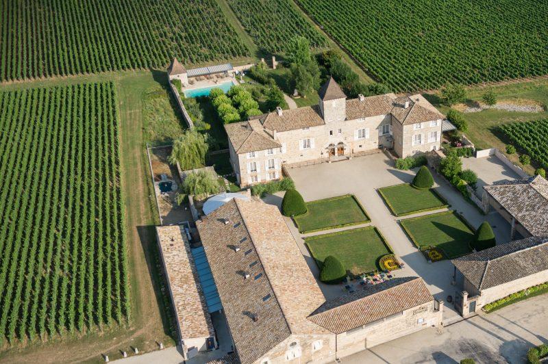 Château de Besseuil : vue aérienne