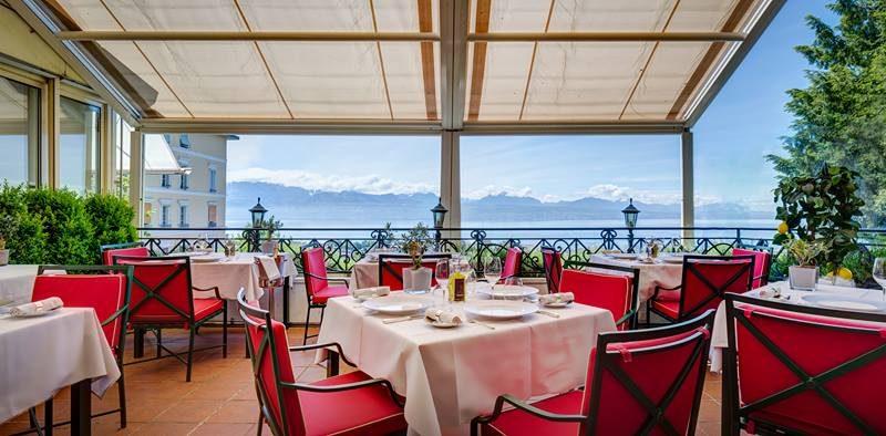 Lausanne Palace et Spa : terrasse