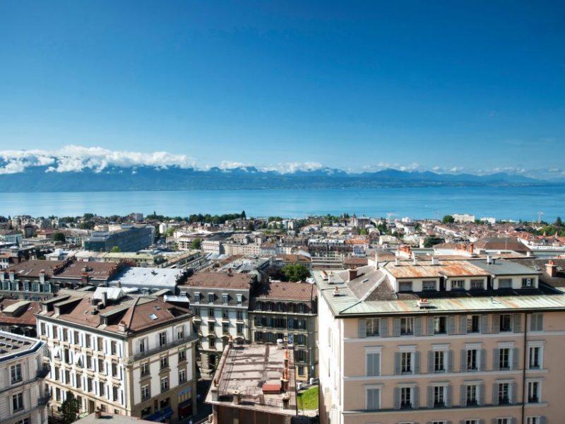 Lausanne Palace et Spa : vue sur le Lac Léman