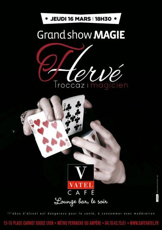 Magicien mentaliste à Lyon au Café Vatel