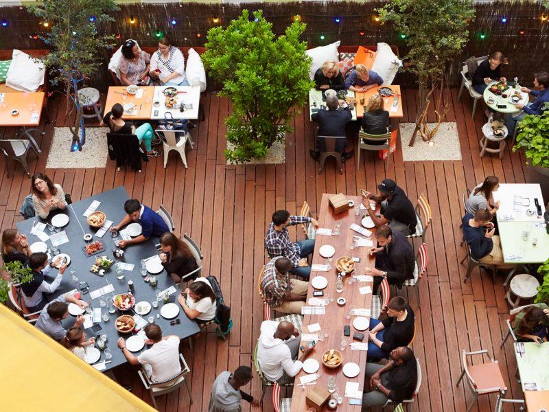 Mama Shelter à Lyon : terrasse