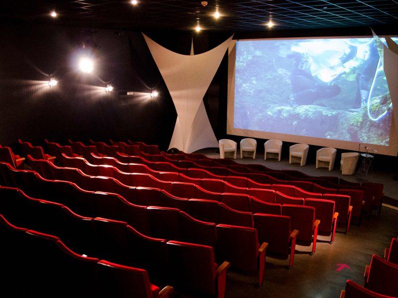 Aquarium de Lyon : salle de cinéma
