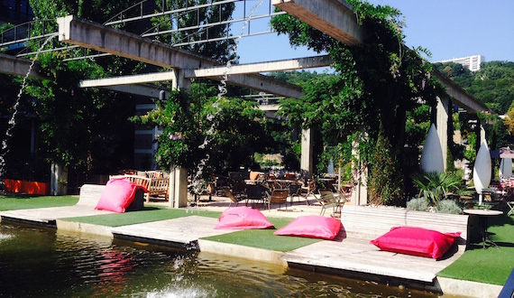 Le Selcius à Lyon : terrasse