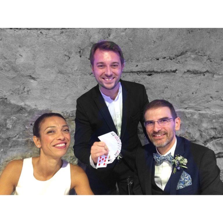 Magicien mentaliste pour un mariage dans le Beaujolais au Château de Courbeville