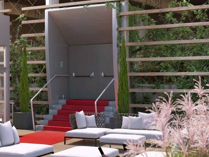 Le Pavillon de la Soie : terrasse